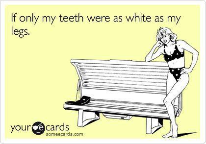 Teeth as white
