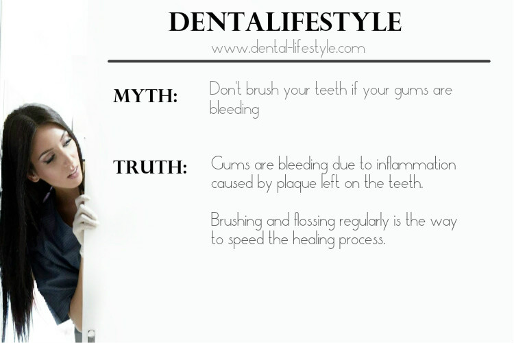 Should you brush when you bleed?