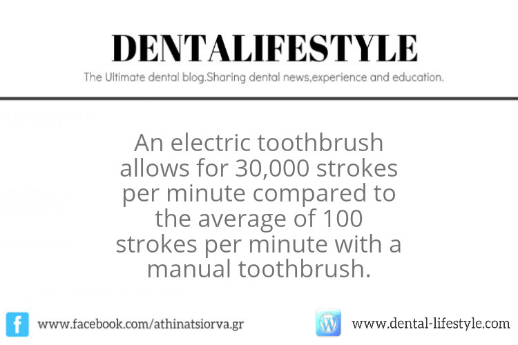 Electric toothbrush allows 30,000 strokes per minute